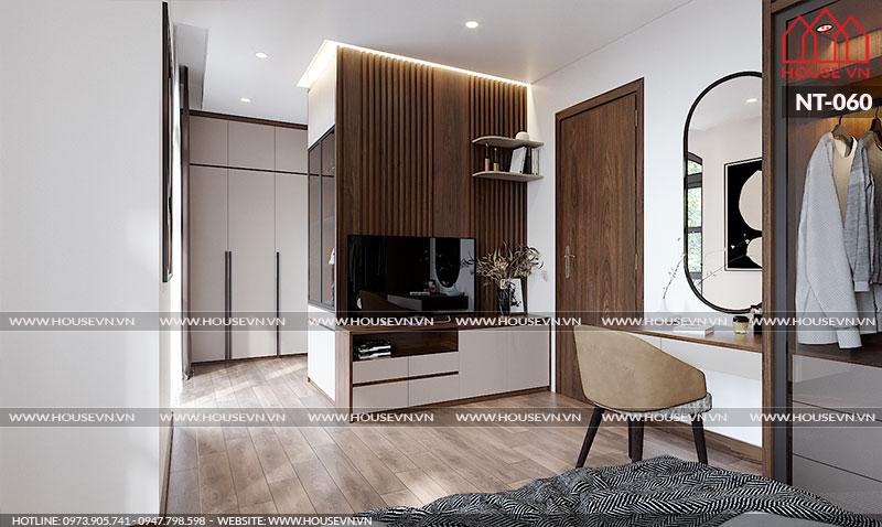 Thiết kế nội thất phòng ngủ Vinhomes theo phong cách hiện đại